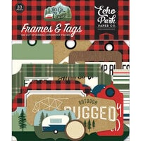 Echo Park - Let's Go Camping Collection - Ephemera - Frames and Tags