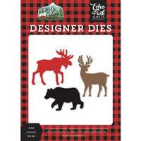 Echo Park - Let's Go Camping Collection - Designer Dies - Wild Animals