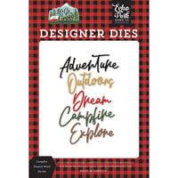 Echo Park - Let's Go Camping Collection - Designer Dies - Campfire Dreams Word