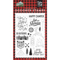 Echo Park - Let's Go Camping Collection - Clear Photopolymer Stamps - Seek Out Adventure