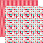 Echo Park - Lucky In Love Collection - 12 x 12 Double Sided Paper - Sweet Hearts