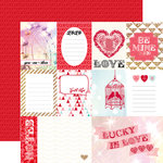 Echo Park - Lucky In Love Collection - 12 x 12 Double Sided Paper - Love This