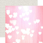 Echo Park - Lucky In Love Collection - 12 x 12 Double Sided Paper - Pink Hearts