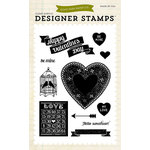 Echo Park - Lucky In Love Collection - Clear Acrylic Stamps - Hello Sweetheart