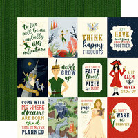 Echo Park - Lost in Neverland Collection - 12 x 12 Double Sided Paper - 3 x 4 Journaling Cards