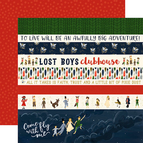 Echo Park - Lost in Neverland Collection - 12 x 12 Double Sided Paper - Border Strips