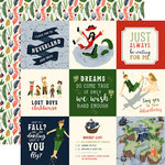 Echo Park - Lost in Neverland Collection - 12 x 12 Double Sided Paper - 4 x 4 Journaling Cards