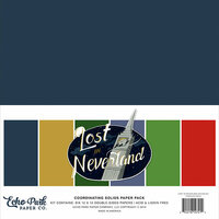 Echo Park - Lost in Neverland Collection - 12 x 12 Paper Pack - Solids