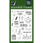 Echo Park - Lost in Neverland Collection - Clear Photopolymer Stamps - Off to Neverland