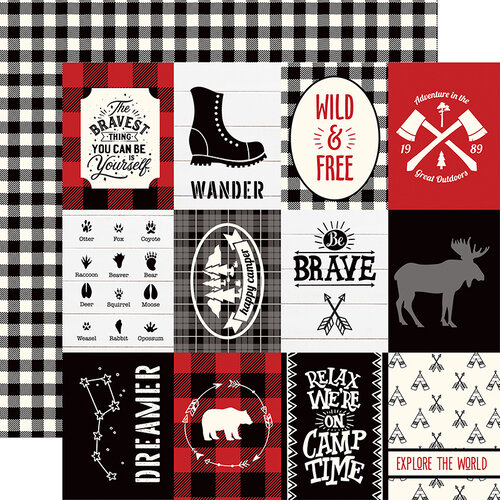 Echo Park - Little Lumberjack Collection - 12 x 12 Double Sided Paper - 3 x 4 Journaling Cards