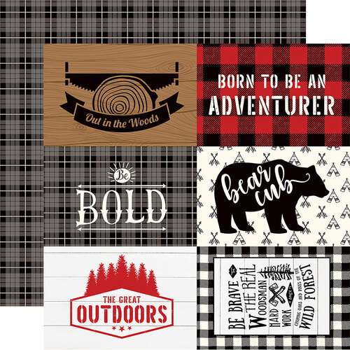 Echo Park - Little Lumberjack Collection - 12 x 12 Double Sided Paper - 4 x 6 Journaling Cards