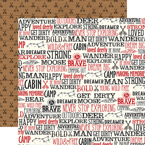 Echo Park - Little Lumberjack Collection - 12 x 12 Double Sided Paper - Wander Words