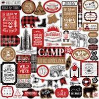 Echo Park - Little Lumberjack Collection - 12 x 12 Cardstock Stickers - Elements