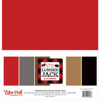 Echo Park - Little Lumberjack Collection - 12 x 12 Paper Pack - Solids
