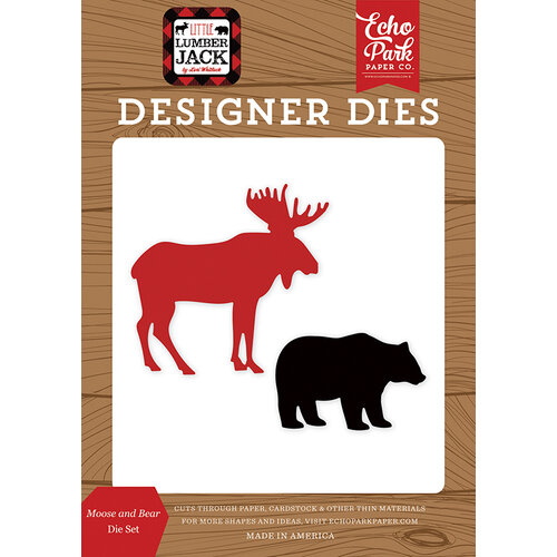 Echo Park - Little Lumberjack Collection - Designer Dies - Moose And Bear