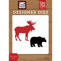 Echo Park - Little Lumberjack Collection - Designer Dies - Moose And Bear