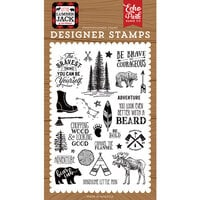 Echo Park - Little Lumberjack Collection - Clear Photopolymer Stamps - Be Brave