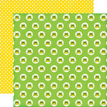 Echo Park - Little Man Collection - 12 x 12 Double Sided Paper - Frogs