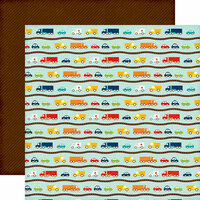 Echo Park - Little Man Collection - 12 x 12 Double Sided Paper - Cars