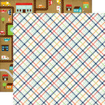 Echo Park - Little Man Collection - 12 x 12 Double Sided Paper - Plaid