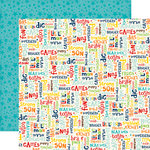 Echo Park - Little Man Collection - 12 x 12 Double Sided Paper - Words