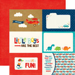 Echo Park - Little Man Collection - 12 x 12 Double Sided Paper - 4 x 6 Journaling Cards