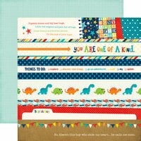 Echo Park - Little Man Collection - 12 x 12 Double Sided Paper - Borders