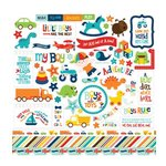 Echo Park - Little Man Collection - 12 x 12 Cardstock Stickers - Elements