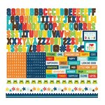 Echo Park - Little Man Collection - 12 x 12 Cardstock Stickers - Alphabet