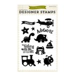 Echo Park - Little Man Collection - Clear Acrylic Stamps - Boy Adventure