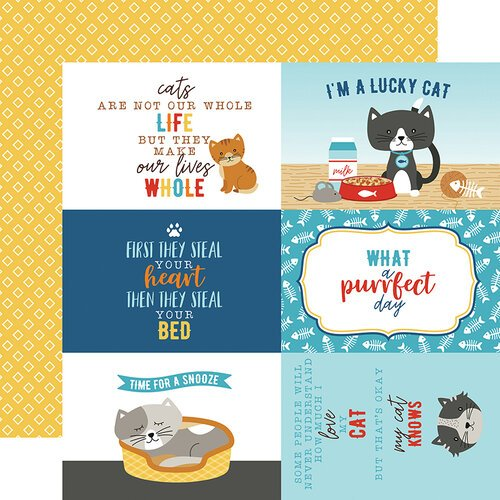Echo Park - I Love My Cat Collection - 12 x 12 Double Sided Paper - 4 x 6 Journaling Cards