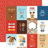 Echo Park - I Love My Dog Collection - 12 x 12 Double Sided Paper - 3 x 4 Journaling Cards