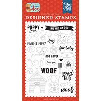 Echo Park - I Love My Dog Collection - Clear Photopolymer Stamps - Puppy Love
