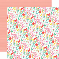Echo Park - Let's Party Collection - 12 x 12 Double Sided Paper - Party Time