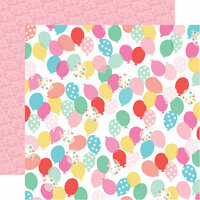 Echo Park - Let's Party Collection - 12 x 12 Double Sided Paper - Birthday Balloons