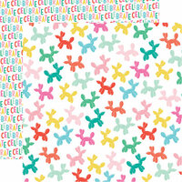 Echo Park - Let's Party Collection - 12 x 12 Double Sided Paper - Party Animals