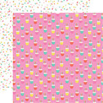 Echo Park - Let's Party Collection - 12 x 12 Double Sided Paper - Cupcake Celebration