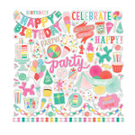 Echo Park - Let's Party Collection - 12 x 12 Cardstock Stickers - Elements