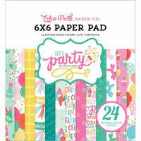 Echo Park - Let's Party Collection - 6 x 6 Paper Pad