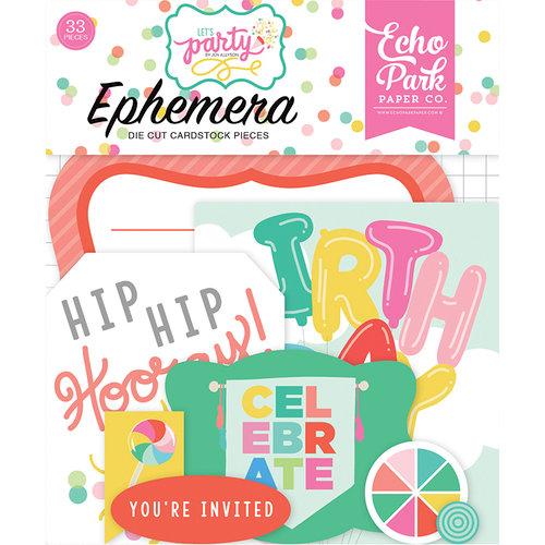 Echo Park - Let's Party Collection - Ephemera