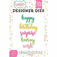Echo Park - Let's Party Collection - Designer Dies - Birthday Surprise Word