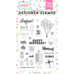 Echo Park - Let's Party Collection - Clear Photopolymer Stamps - Party Animal