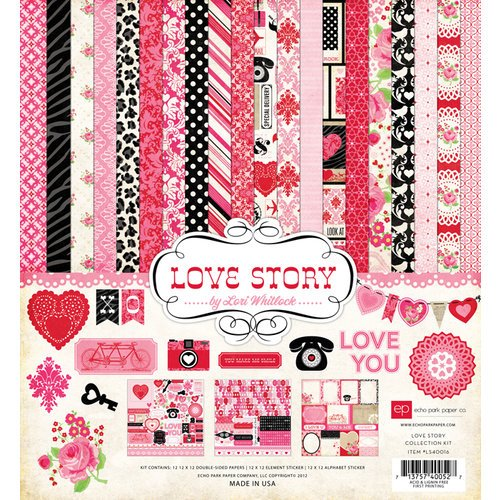 Echo Park - Love Story Collection - 12 x 12 Collection Kit