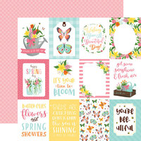 Echo Park - I Love Spring Collection - 12 x 12 Double Sided Paper - 3 x 4 Journaling Cards