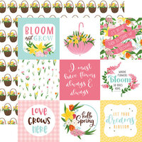 Echo Park - I Love Spring Collection - 12 x 12 Double Sided Paper - 4 x 4 Journaling Cards