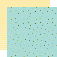 Echo Park - I Love Spring Collection - 12 x 12 Double Sided Paper - Busy Bumblebees