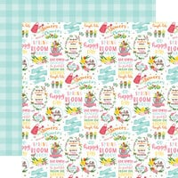 Echo Park - I Love Spring Collection - 12 x 12 Double Sided Paper - Hello Spring