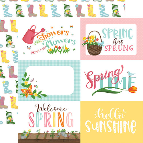 Echo Park - I Love Spring Collection - 12 x 12 Double Sided Paper - 6 x 4 Journaling Cards