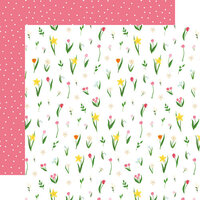 Echo Park - I Love Spring Collection - 12 x 12 Double Sided Paper - May Flowers