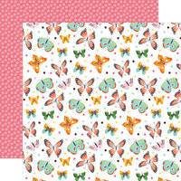Echo Park - I Love Spring Collection - 12 x 12 Double Sided Paper - Blissful Butterflies